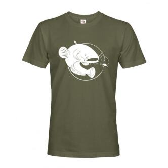 Rybářské tričko s potiskem sumce