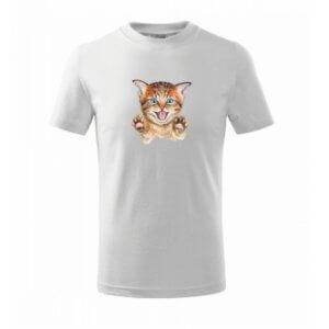 Dětské tričko s potiskem Kočka baf