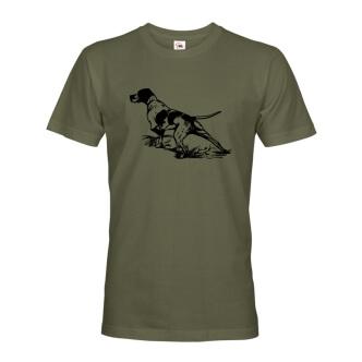 Myslivecké tričko s potiskem psa