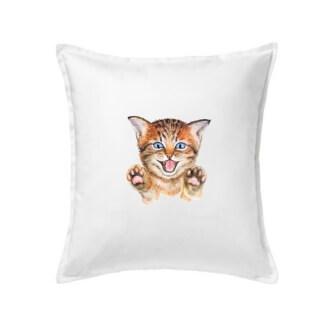 Polštář s potiskem Kočka baf