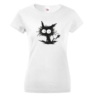 Tričko s potiskem Kočko příšera