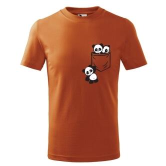 Dětské tričko s potiskem Pandy v kapse